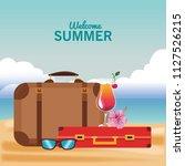 welcome summer cartoons | Shutterstock .eps vector #1127526215