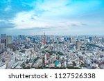 tokyo tower  japan  ... | Shutterstock . vector #1127526338