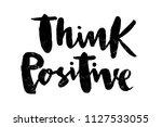 illustration of think positive... | Shutterstock . vector #1127533055