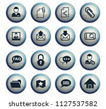 forum interface web icons for...   Shutterstock .eps vector #1127537582