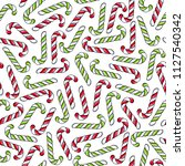 candy canes colorful seamless... | Shutterstock . vector #1127540342