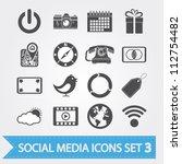 social media related vector...   Shutterstock .eps vector #112754482