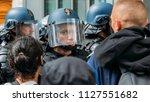 paris  france   june 1st  2018  ... | Shutterstock . vector #1127551682