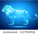 lion  low poly style  geometry  ... | Shutterstock .eps vector #1127554928