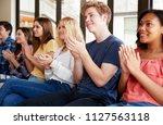 group of high school students... | Shutterstock . vector #1127563118