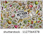 colorful vector hand drawn... | Shutterstock .eps vector #1127564378