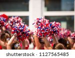 American cheerleader  red white ...