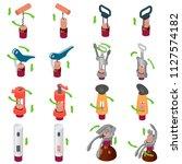 corkscrew wine cork opener...   Shutterstock .eps vector #1127574182