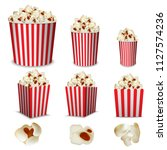 popcorn cinema box striped... | Shutterstock .eps vector #1127574236