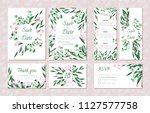 wedding card templates set with ...   Shutterstock .eps vector #1127577758