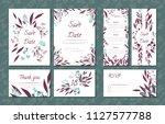 floral vintage cards set for... | Shutterstock .eps vector #1127577788