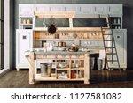 3d render of beautiful retro... | Shutterstock . vector #1127581082