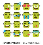 set of funny emojis with...   Shutterstock .eps vector #1127584268