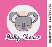 baby shower design | Shutterstock .eps vector #1127593052