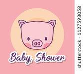 baby shower design | Shutterstock .eps vector #1127593058