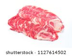 slice of wagyu beef  on the... | Shutterstock . vector #1127614502