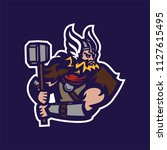 barbarian knight viking esport... | Shutterstock .eps vector #1127615495