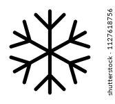 snowflake frost weather | Shutterstock .eps vector #1127618756