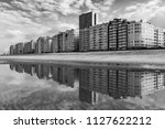 the cityscape of ostend in... | Shutterstock . vector #1127622212