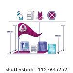 data privacy technology set... | Shutterstock .eps vector #1127645252