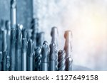 the various type of solid end... | Shutterstock . vector #1127649158