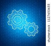 technology gear icon   blue...   Shutterstock .eps vector #1127653655