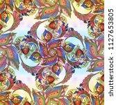 decorative composition  ... | Shutterstock . vector #1127653805