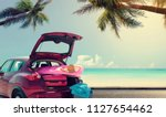 summer car and free space for... | Shutterstock . vector #1127654462