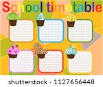 school timetable  a weekly... | Shutterstock .eps vector #1127656448