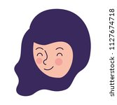 beautiful and young woman head... | Shutterstock .eps vector #1127674718