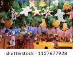 gingerbread cookies at... | Shutterstock . vector #1127677928