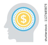 a person with dollar sign in... | Shutterstock .eps vector #1127685875