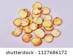 toasted bread   italian... | Shutterstock . vector #1127686172