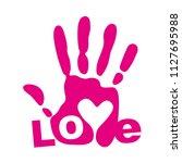 logo imprint hand paint paint... | Shutterstock .eps vector #1127695988