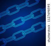 wireframe blockchain links.... | Shutterstock . vector #1127698595