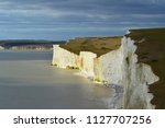 scenic view of white cliffs of... | Shutterstock . vector #1127707256