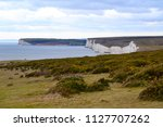 scenic view of white cliffs of... | Shutterstock . vector #1127707262