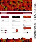 dark green  red vector web ui...