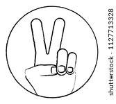 peace symbol design | Shutterstock .eps vector #1127713328