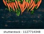 fresh carrot. fresh vegetables. ...   Shutterstock . vector #1127714348