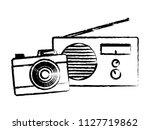 photographic camera and radio   Shutterstock .eps vector #1127719862