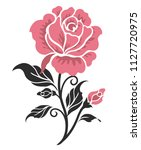 rose motif design sketch | Shutterstock .eps vector #1127720975