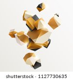 abstract golden composition... | Shutterstock .eps vector #1127730635