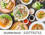 assorted asian dinner ... | Shutterstock . vector #1127731712