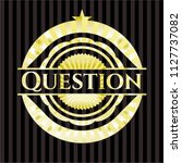 question shiny badge | Shutterstock .eps vector #1127737082