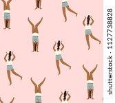 women feminist seamless pattern.... | Shutterstock .eps vector #1127738828