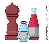 condiment bottles design | Shutterstock .eps vector #1127738948