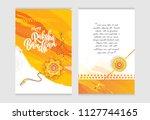 raksha bandhan greeting card... | Shutterstock .eps vector #1127744165