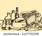 abstract vintage vector...   Shutterstock .eps vector #1127752298