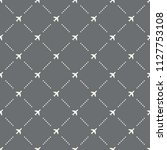 seamless airplane pattern on a...